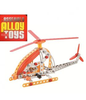 DIY ASSEMBLY ALLOY TOYS SERIES - HELICOPTER 154PCS